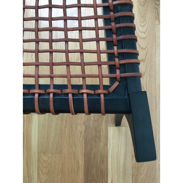 D Klismos Chair in Black Lizard For Sale In New York - Image 6 of 8