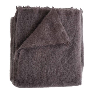Mohair Throw in Amethyst For Sale