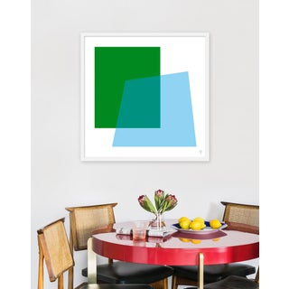 "Medium ""Intersection Green and Blue"" Print by Wendy Concannon, 31"" X 31"" Preview"