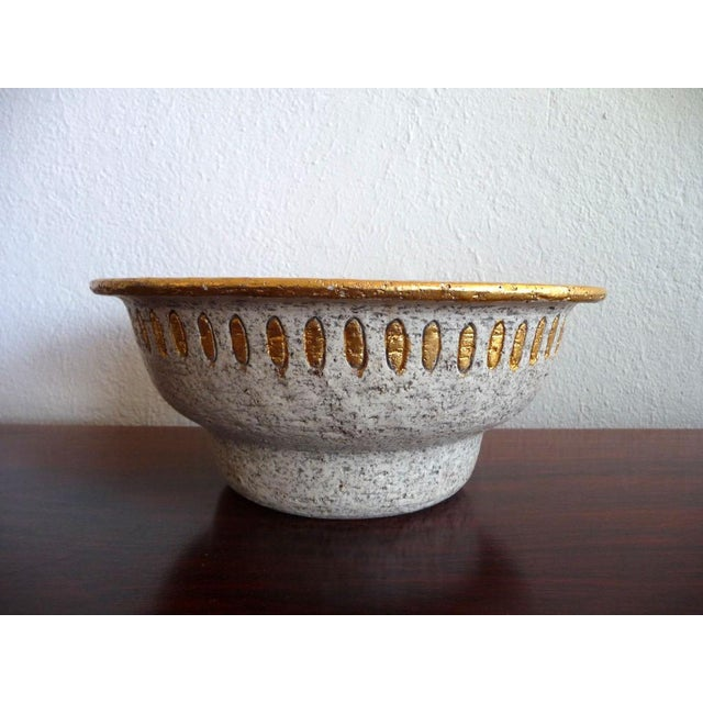 Hollywood Regency Bitossi Mid-Century Cave Painting Bowl For Sale - Image 3 of 5