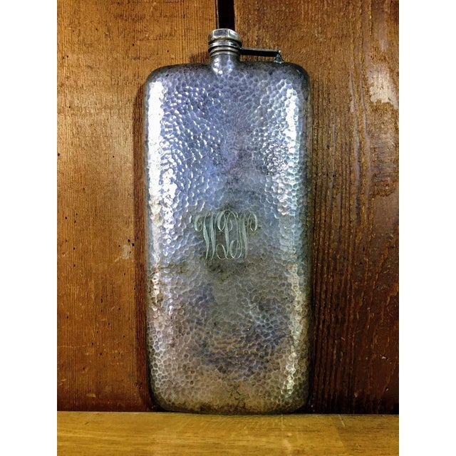 Silver-Plate Hip Flask by Apollo Co c. 1900 For Sale - Image 9 of 9