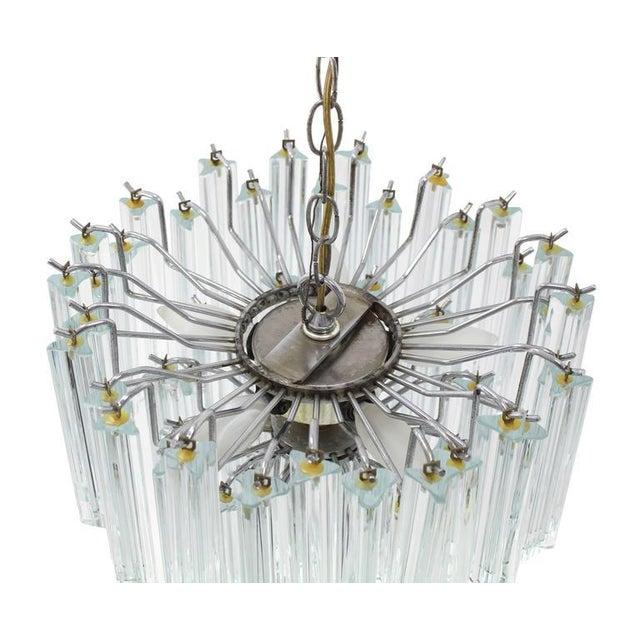 Transparent Medium Size Venini Glass Prisms Camer Light Fixture For Sale - Image 8 of 9