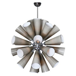 Murano Glass Gray Sputnik Chandelier For Sale