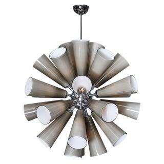 Murano Glass Gray Sputnik Chandelier For Sale