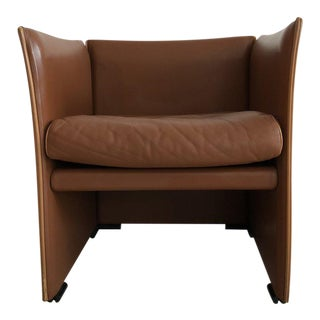 Mario Bellini for Cassina Brown Leather 401 Break Chair