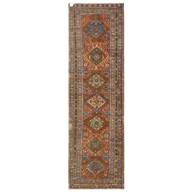 Antique Persian Heriz Rug - 3.1 x 10.3 - Image 1 of 3