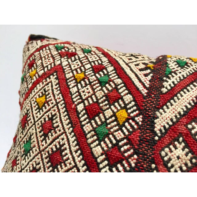 Moroccan Berber Pillow With Tribal African Designs For Sale - Image 9 of 10