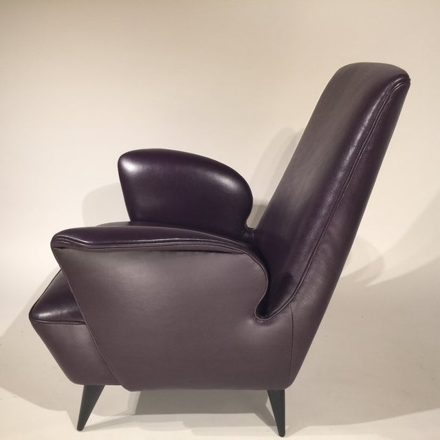 Italian Leather Armchairs - A Pair - Image 8 of 8