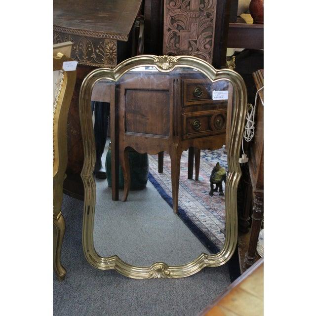 Art Nouveau Italian Brass Wall Mirror For Sale - Image 3 of 13