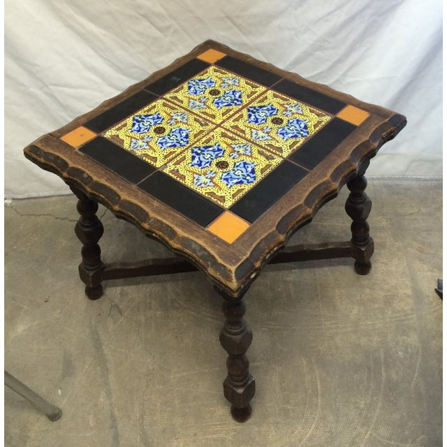 Antique Monterey Tile Table - Image 4 of 6
