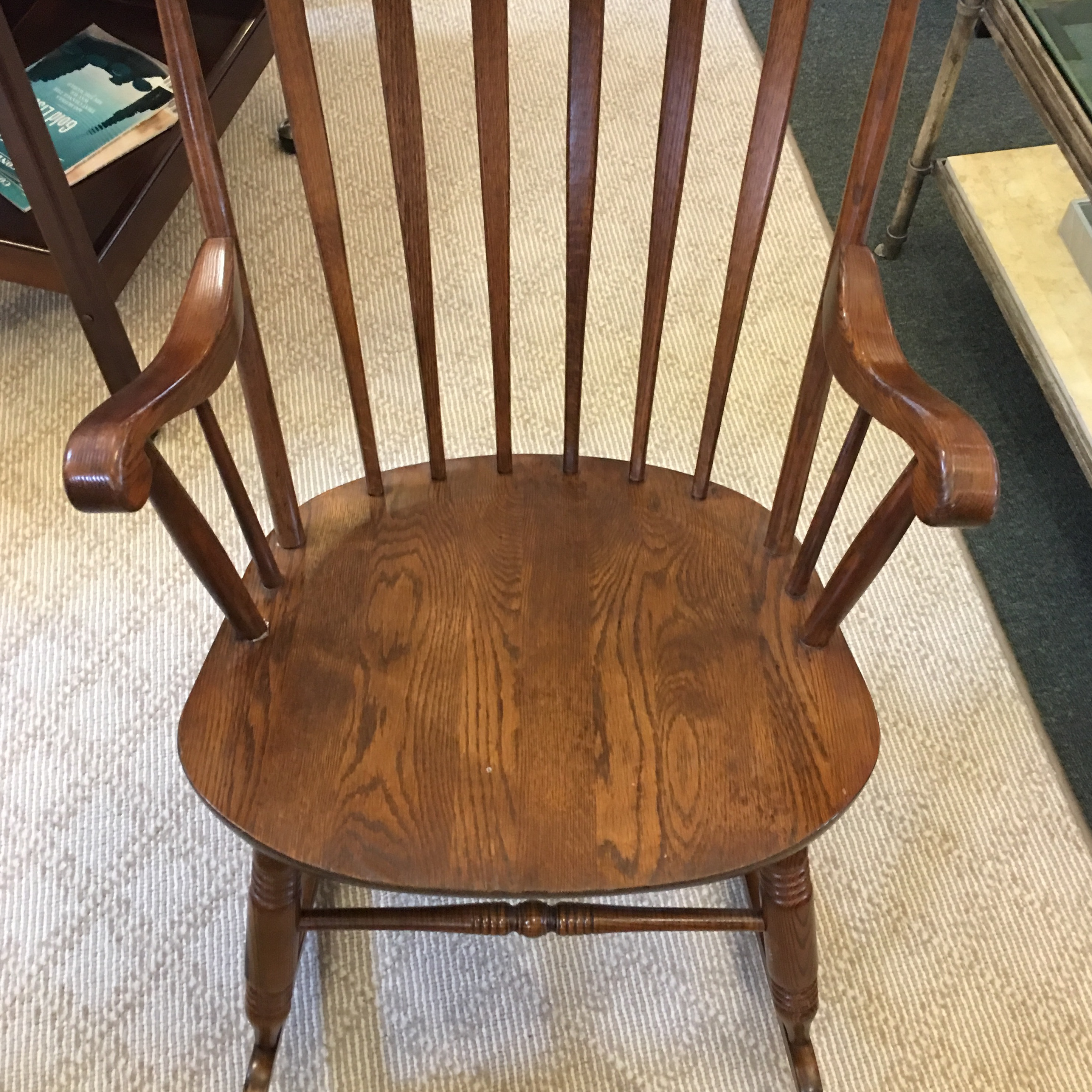 British Colonial Vintage S. Bent U0026 Bros. Rocking Chair For Sale   Image 3