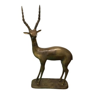 Sculpture - Brass Gazelle For Sale