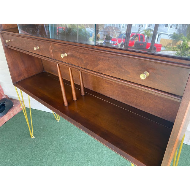 Drexel Declaration Mid Century Modern Hairpin Cabinet For Sale - Image 4 of 7