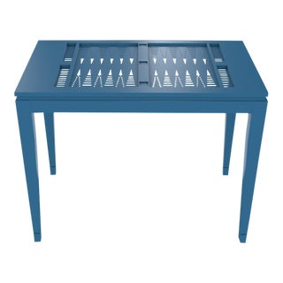 Oomph Backgammon Outdoor Table, Blue For Sale
