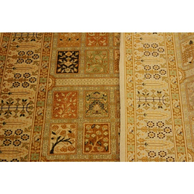 Semi Antique Istanbul Cammy Tan/Gold Turkish Hand-Knotted Rug -4'2 X 6'0 For Sale In New York - Image 6 of 8