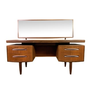 "1960s Mid Century Modern G Plan Teak ""Fresco"" Vanity and Mirror For Sale"
