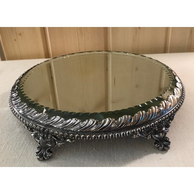 Vintage Silverplate Mirrored Plateau Stand - Image 2 of 10