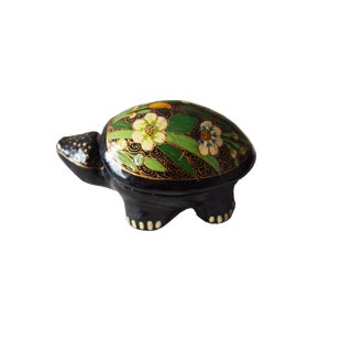 Lacquer Turtle Jewelry Box For Sale