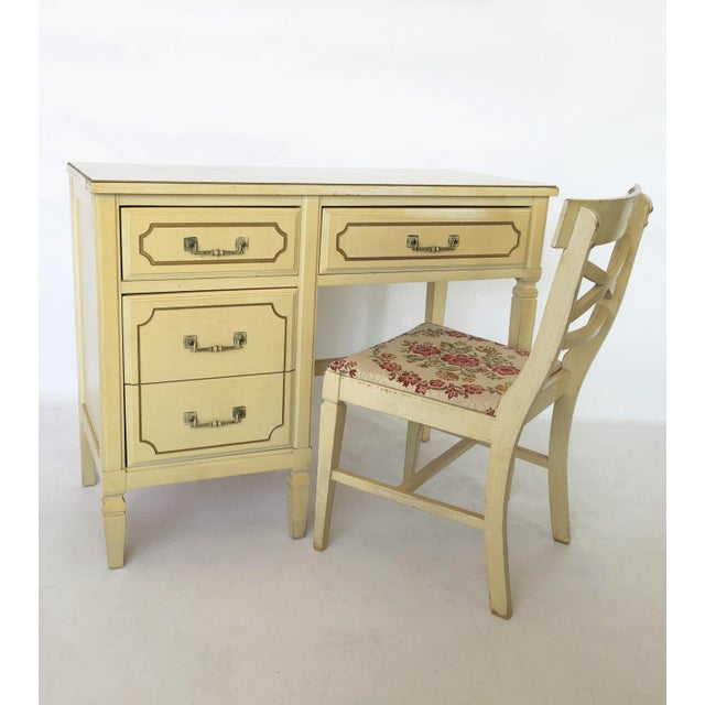 White French Regency Writing Desk and Chair For Sale - Image 8 of 8