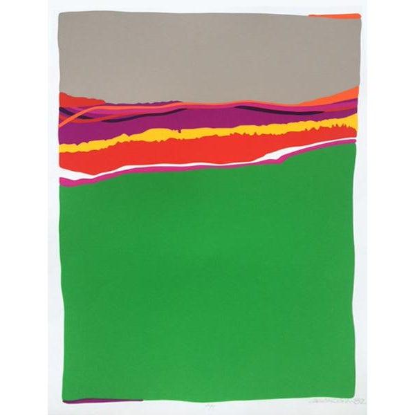 Abstract C. Daniel Gelakoska Summer Space Print For Sale - Image 3 of 3