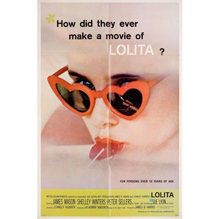 Lolita 1962 U.S. One Sheet Film Poster For Sale