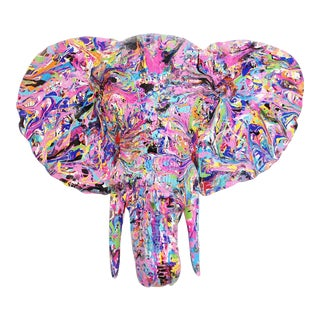 Contemporary Abstract Elephant Wall Sculpture For Sale