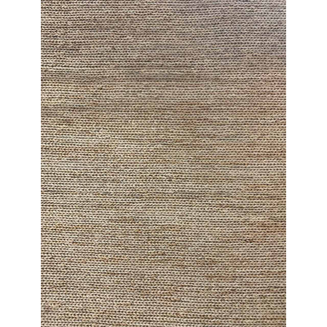 """Hand Woven Jute Rug-5'5"""" X 7'10"""" For Sale - Image 9 of 9"""