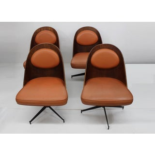Mid Century Modern Bent Plywood and Vinyl Dining Chairs Preview