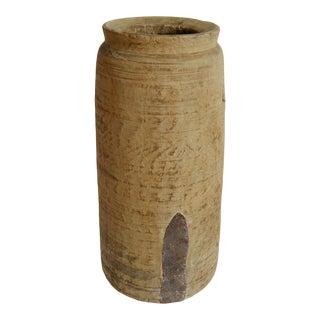 Vintage Old India Wood Lassi Pot For Sale