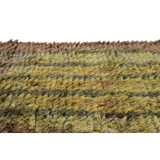 Graphic Finnish Rya Rug For Sale In Boston - Image 6 of 11