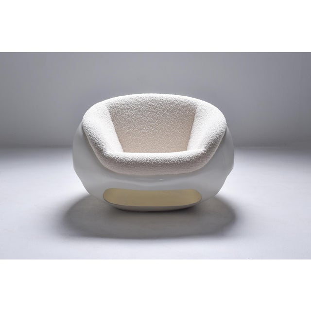1960s Mario Sabot Sculptural Fiberglass Lounge Chairs in Bouclé - a Pair For Sale - Image 6 of 12