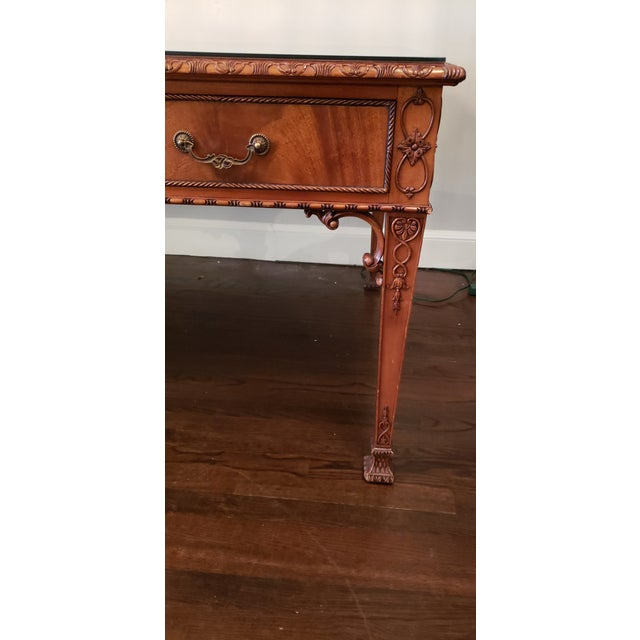 19th Century English Ornate Writing Desk For Sale - Image 5 of 8