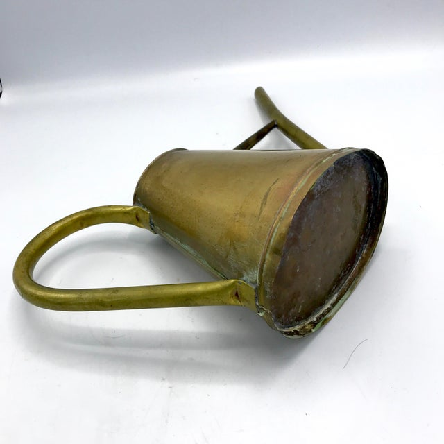 Vintage Brass Watering Can For Sale - Image 4 of 5