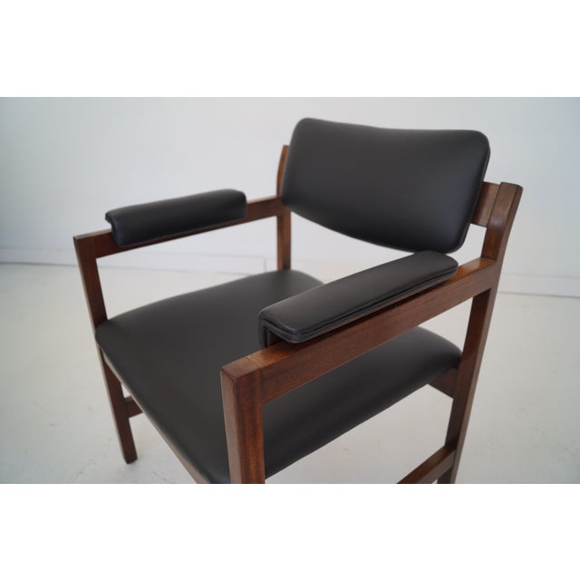 Mid-Century Walnut Arm Chairs - a Pair For Sale - Image 11 of 11