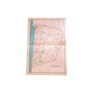 Antique Greenburgh New York Map