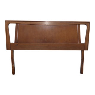 1960's Vintage Mid Century Danish Modern Walnut Headboard For Sale
