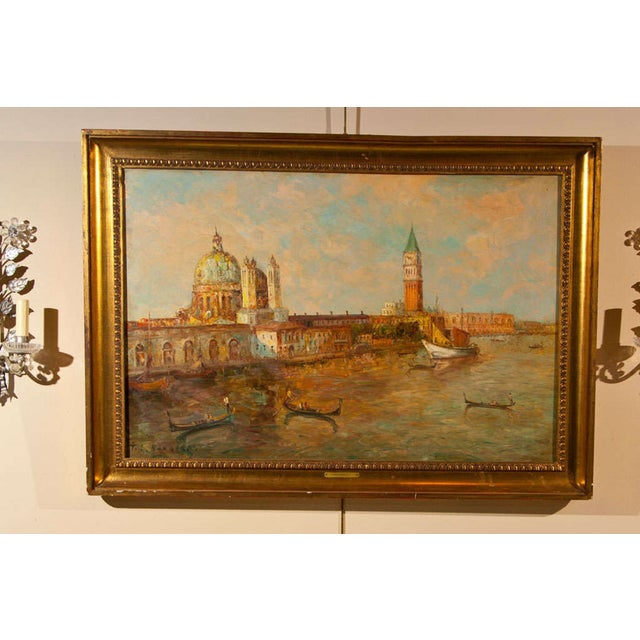 Oil Painting of Venice Harbor by T.L. Novaretti - Image 2 of 9