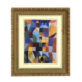 """1990s Abstract Expressionist Painting, """"Cityscape With Yellow Windows""""by Paul Klee For Sale"""