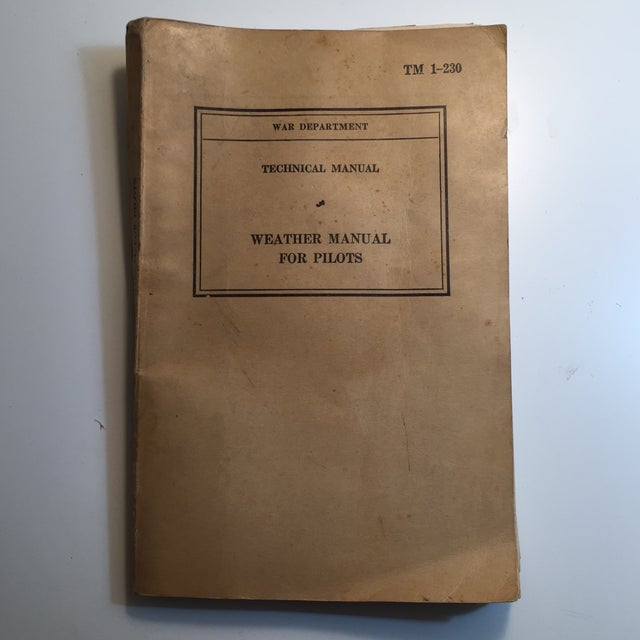 1940 War Department Weather Manual for Pilots For Sale - Image 11 of 11
