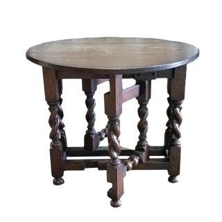Mid 18th Century Vintage Diminutive English Oak Gate Leg Table For Sale