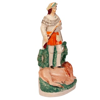 19th Century Antique Staffordshire Scotch Hunter Figurine For Sale