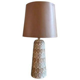 Mid-Century Modern Hand Painted Art Pottery Table Lamp For Sale