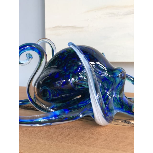 Early 21st Century Handblown Glass Octopus by Michael Hopko For Sale - Image 5 of 9
