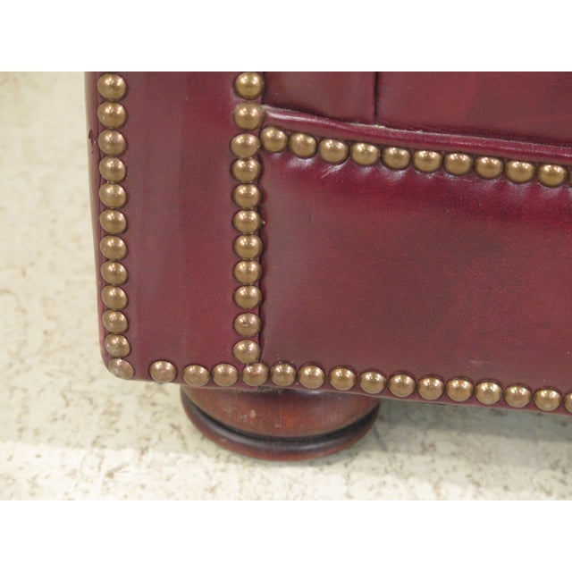 Burgundy Leather Club Chairs - A Pair - Image 4 of 13