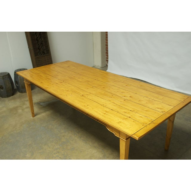 Italian Pine Farm Dining Table - Image 6 of 11