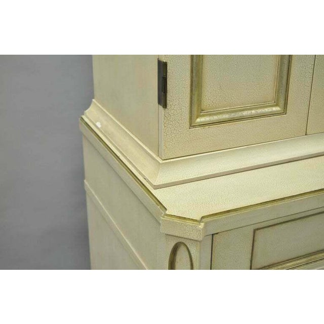 White French Neoclassical Louis XVI Style Cream & Gold Painted Bar Cabinet by Decca A For Sale - Image 8 of 11