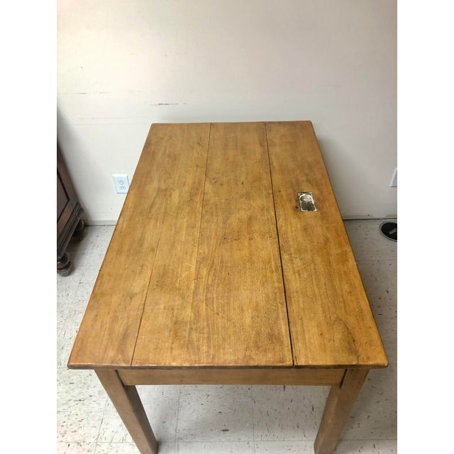 Antique Country Farm Table / Desk With Two Drawers For Sale - Image 11 of 13