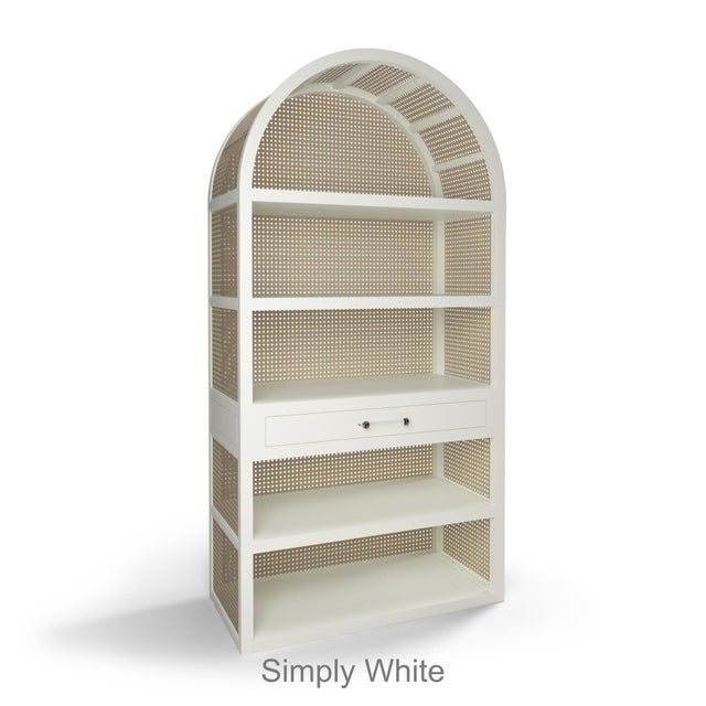 Not Yet Made - Made To Order Leila Etagere Bookcase- Simply White For Sale - Image 5 of 5