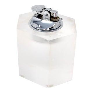 Vintage Hexagonal Lucite Table Lighter For Sale