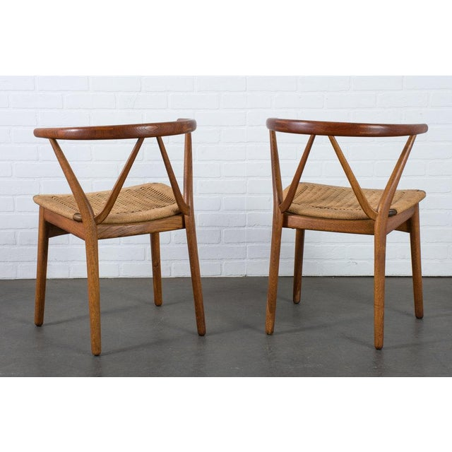 Mid-Century Modern Henning Kjærnulf for Bruno Hansen Model 255 Teak Chairs - A Pair For Sale - Image 3 of 13
